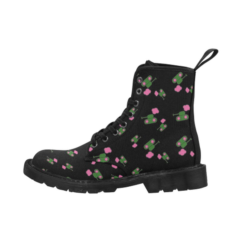 Tanks and clouds black Boots for 60.00 at ARMY PINK