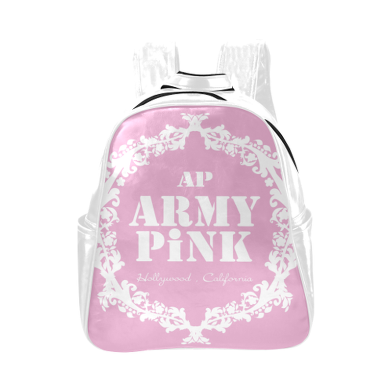 White wreath on violet Multi-Pockets Backpack (Model 1636) for  at ARMY PINK