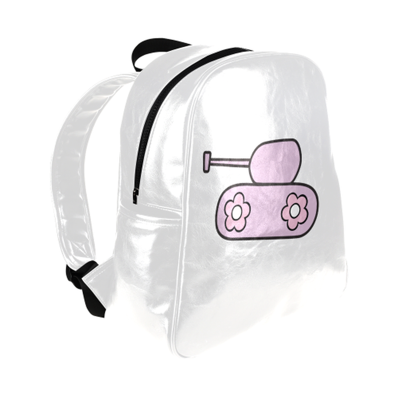 Lavender tank on white Multi-Pockets Backpack (Model 1636) for  at ARMY PINK