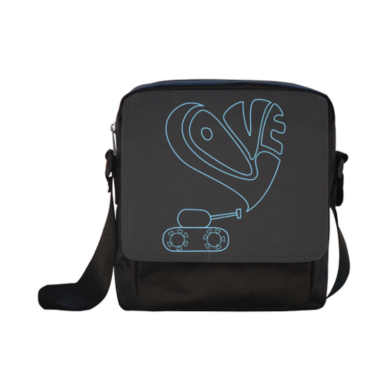 Blue love tank Crossbody Nylon Bag for  at ARMY PINK
