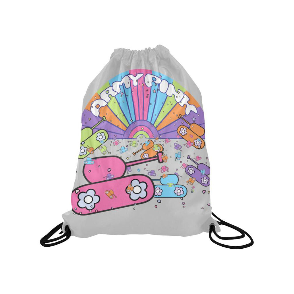 Gray sunshine Drawstring Bag for  at ARMY PINK