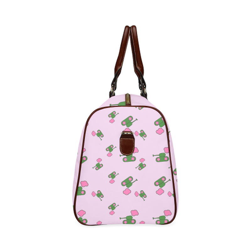 Small pink tank cloud Travel Bag for  at ARMY PINK