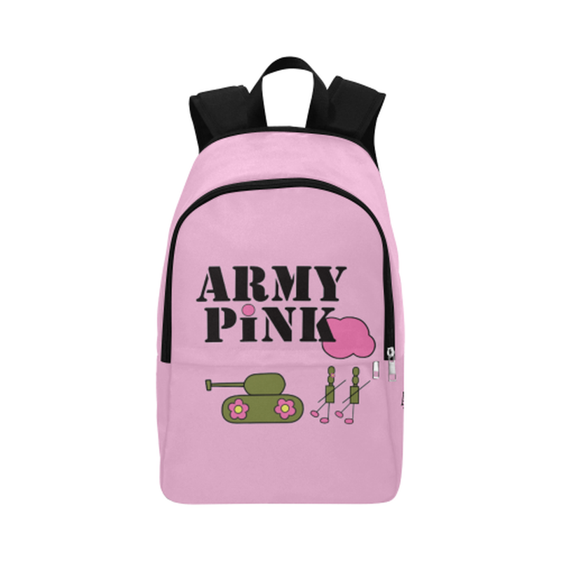 Pink logo Fabric Backpack ${product-type) ${shop-name)