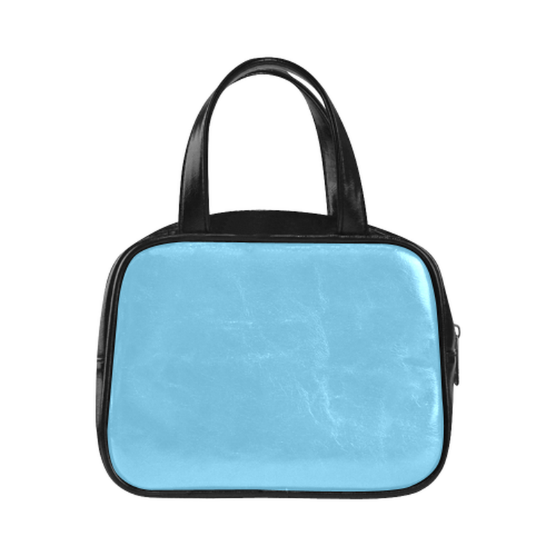 Logo on blue Leather Top Handle Mini Handbag for  at ARMY PINK