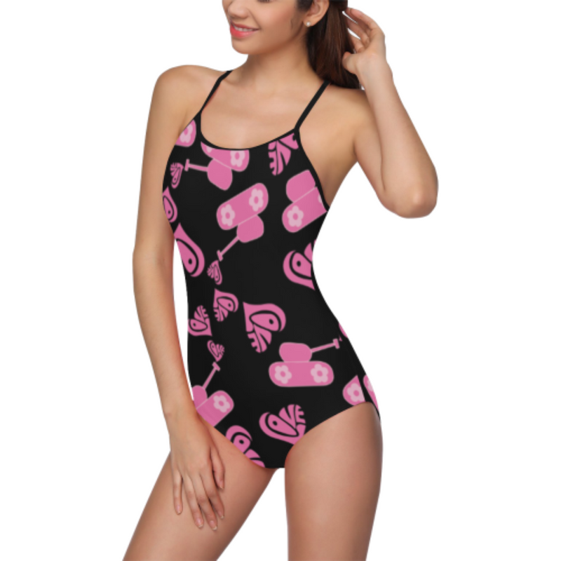 Pink love tank black Swimsuit for 30.00 at ARMY PINK