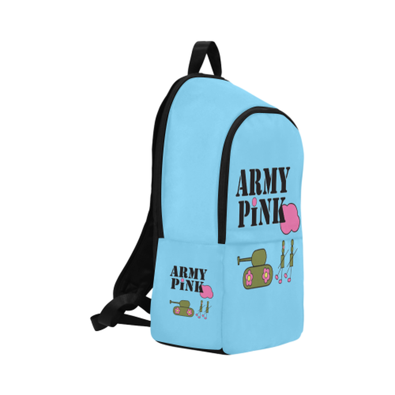 Blue logo Fabric Backpack for  at ARMY PINK