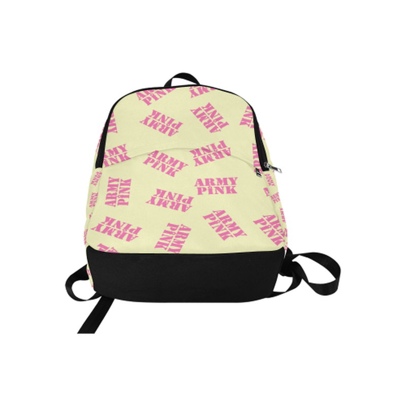 Pink stamps on yellow Fabric Backpack for Adult (Model 1659) for  at ARMY PINK