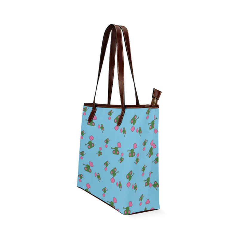 Tanks on clouds bright blue Shoulder Tote Bag (Model 1646) for  at ARMY PINK