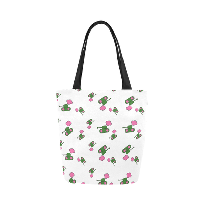 White tank cloud Canvas Tote Bag for  at ARMY PINK