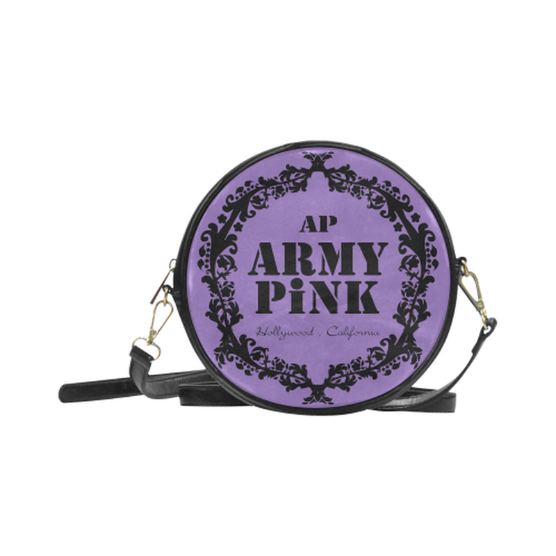 Purple black wreath Round Sling Bag for  at ARMY PINK