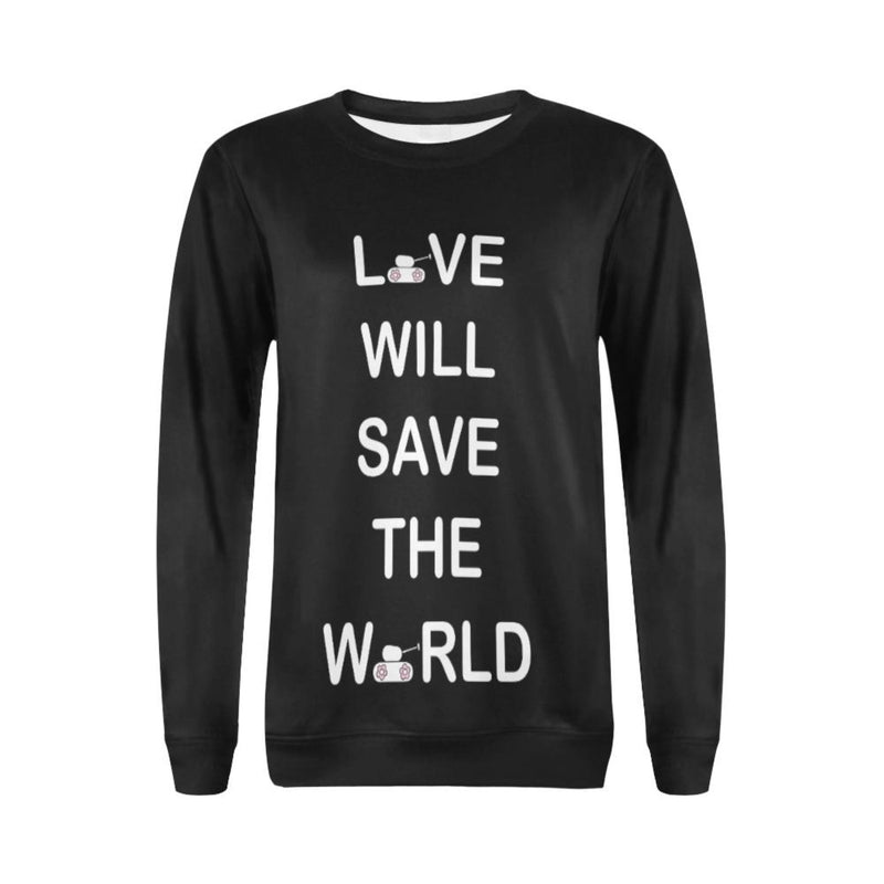 White love will save Crewneck Sweatshirt for 40.00 at ARMY PINK