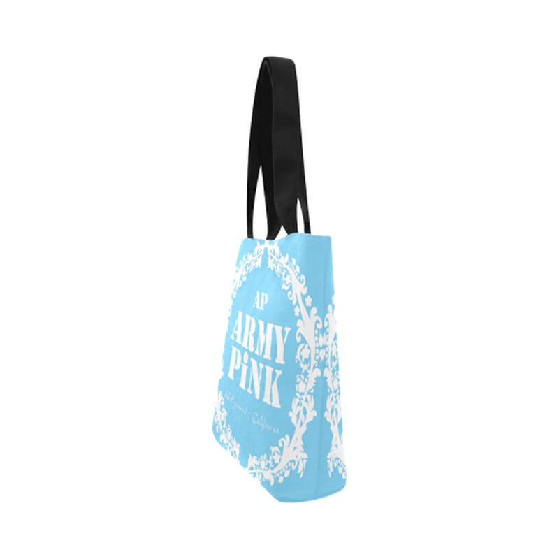 Blue white wreath Canvas Tote Bag for  at ARMY PINK