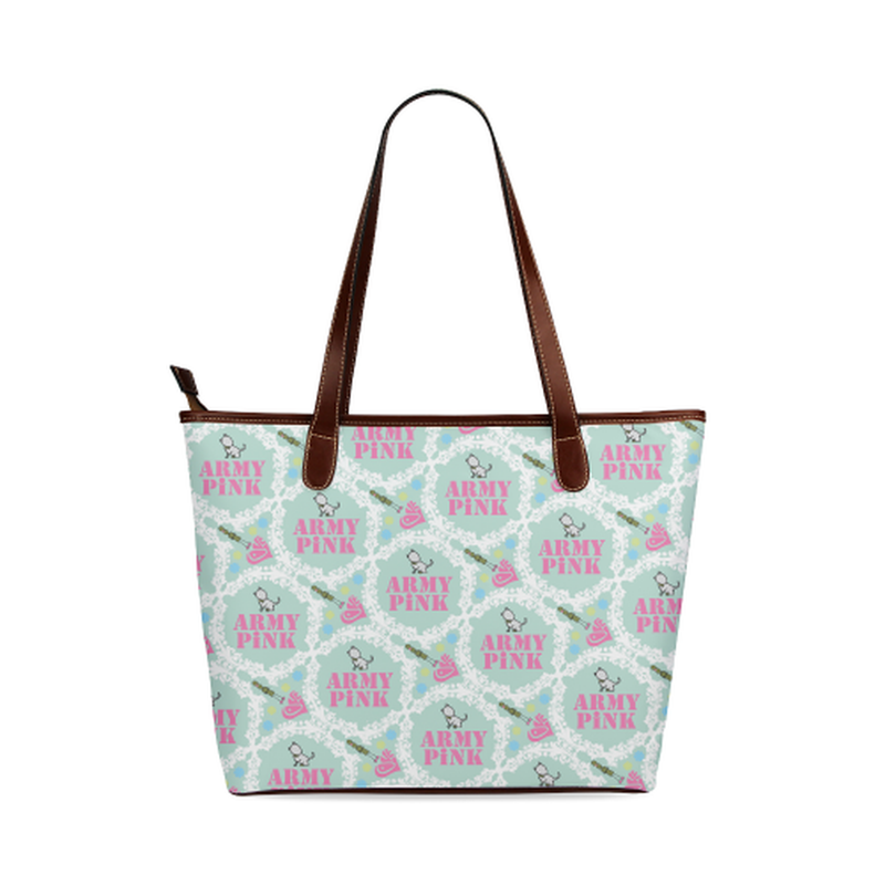 Mint white wreath Tote Bag for  at ARMY PINK