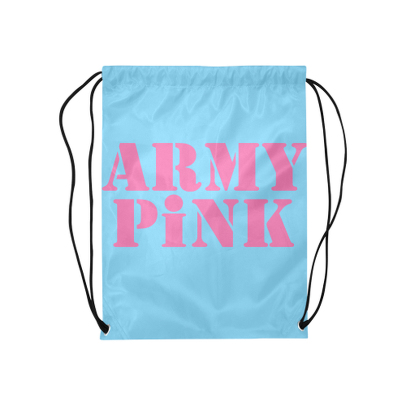 Blue Army Pink Drawstring Bag ${product-type) ${shop-name)