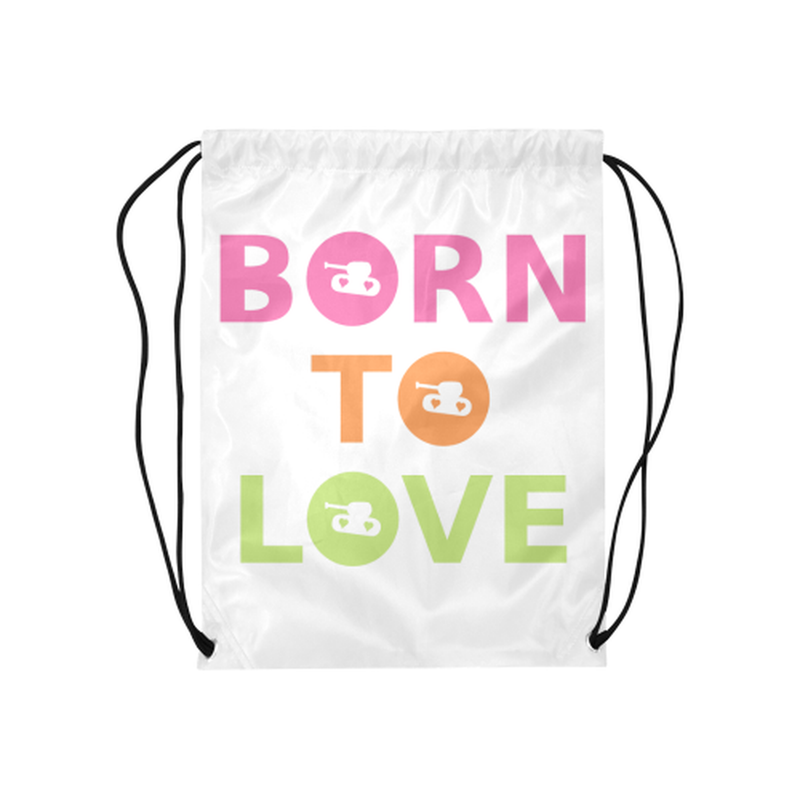 Bright born to love Drawstring Bag ${product-type) ${shop-name)