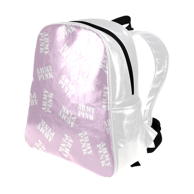 White stamps on violet Multi-Pockets Backpack (Model 1636) for  at ARMY PINK