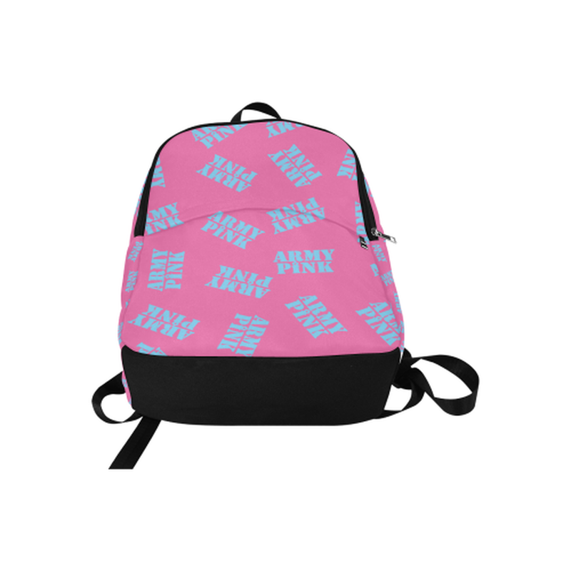 Blue stamps on pink Fabric Backpack for Adult (Model 1659) for  at ARMY PINK