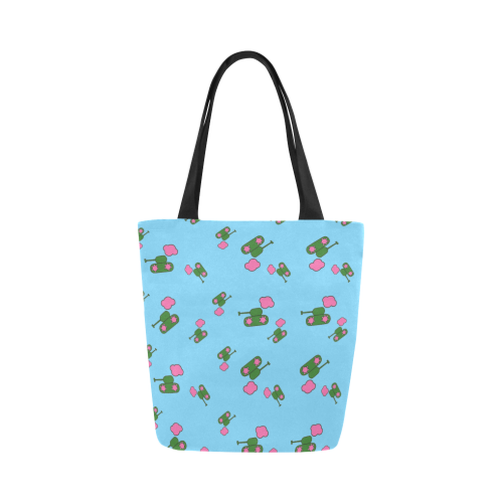 Blue tank cloud Canvas Tote Bag for  at ARMY PINK