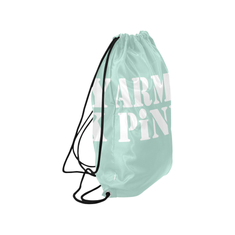 Army Pink in White on Mint Green Drawstring Bag for  at ARMY PINK