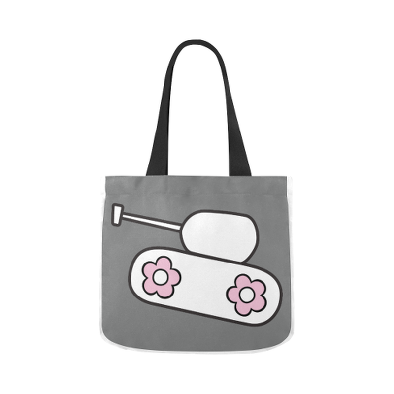 Gray tank Canvas Tote Bag for  at ARMY PINK
