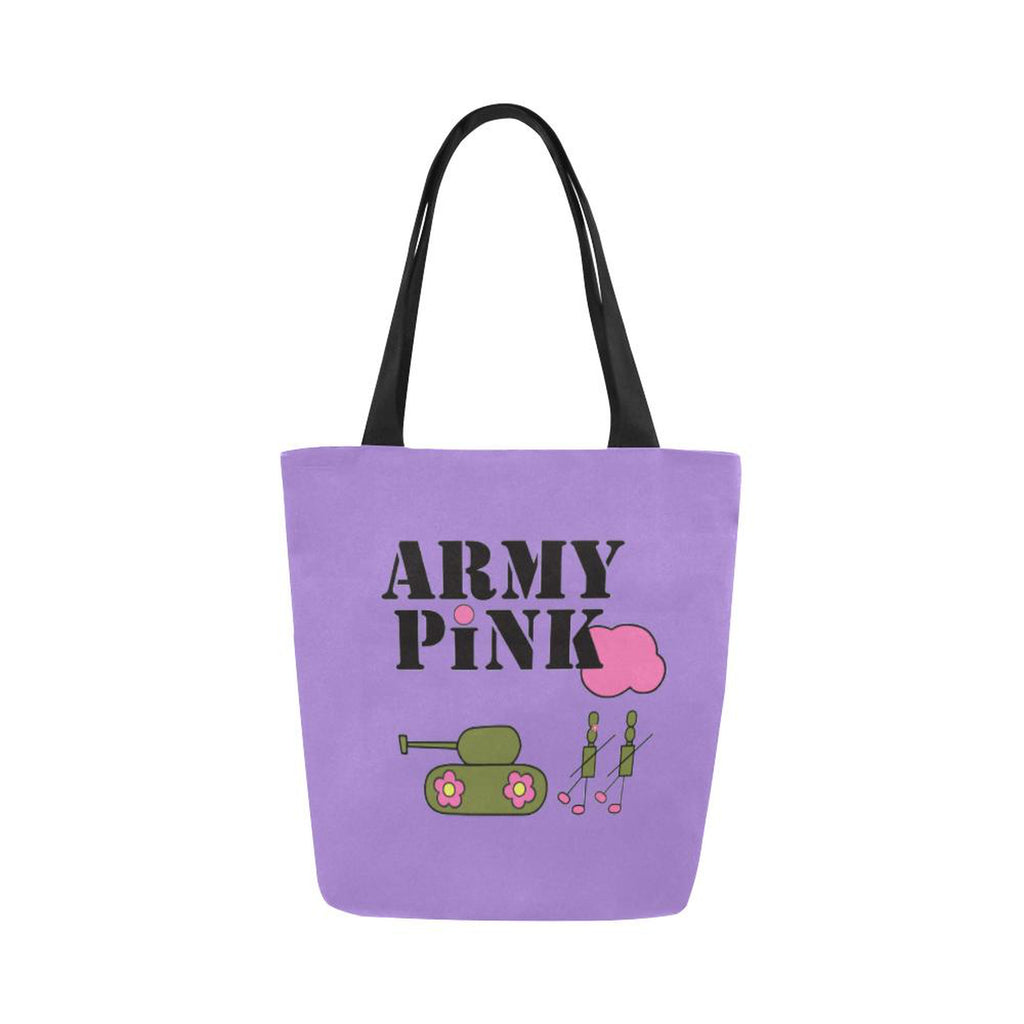 Logo on purple for  at ARMY PINK