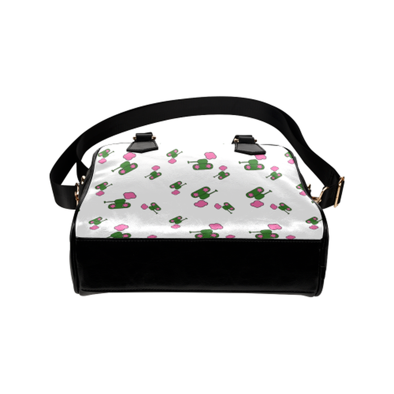 Tank cloud pattern on white Shoulder Handbag for  at ARMY PINK
