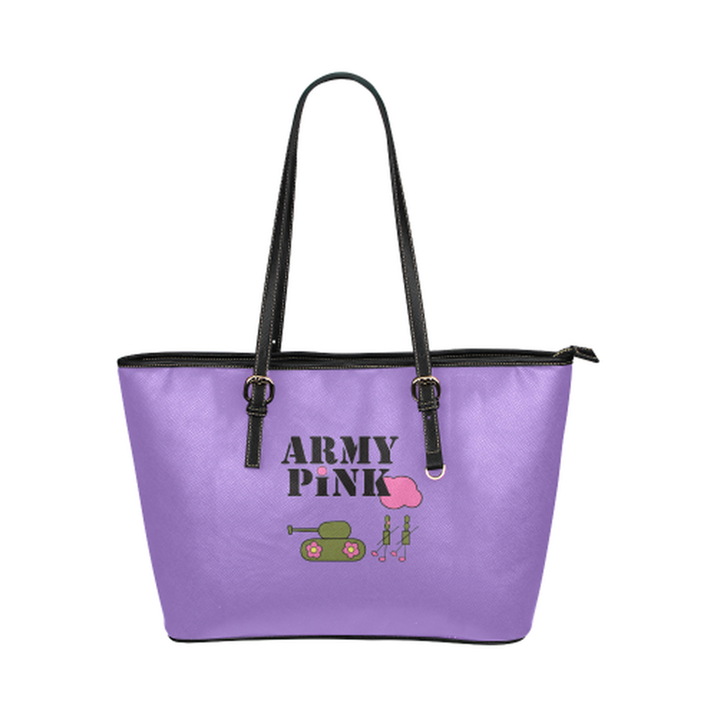 Purple logo leather Tote Bag ${product-type) ${shop-name)