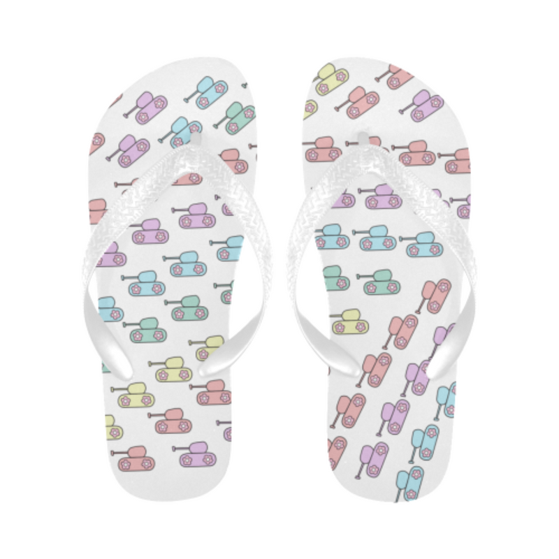 Pastel rainbow tank Flip Flops for 16.00 at ARMY PINK