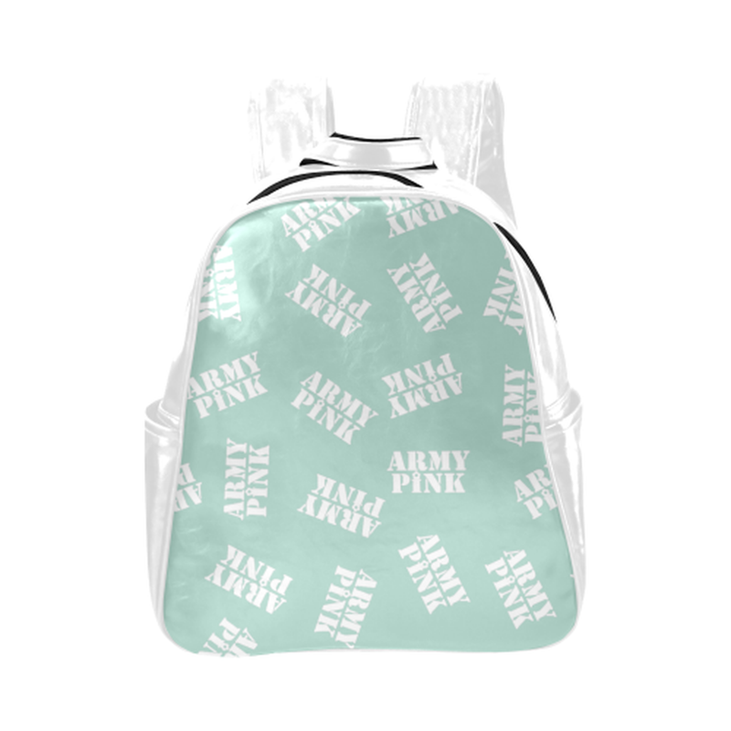 White stamps on mint Multi-Pockets Backpack (Model 1636) for  at ARMY PINK