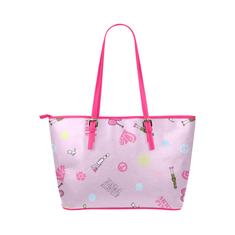 Pink logo print leather Tote Bag for  at ARMY PINK