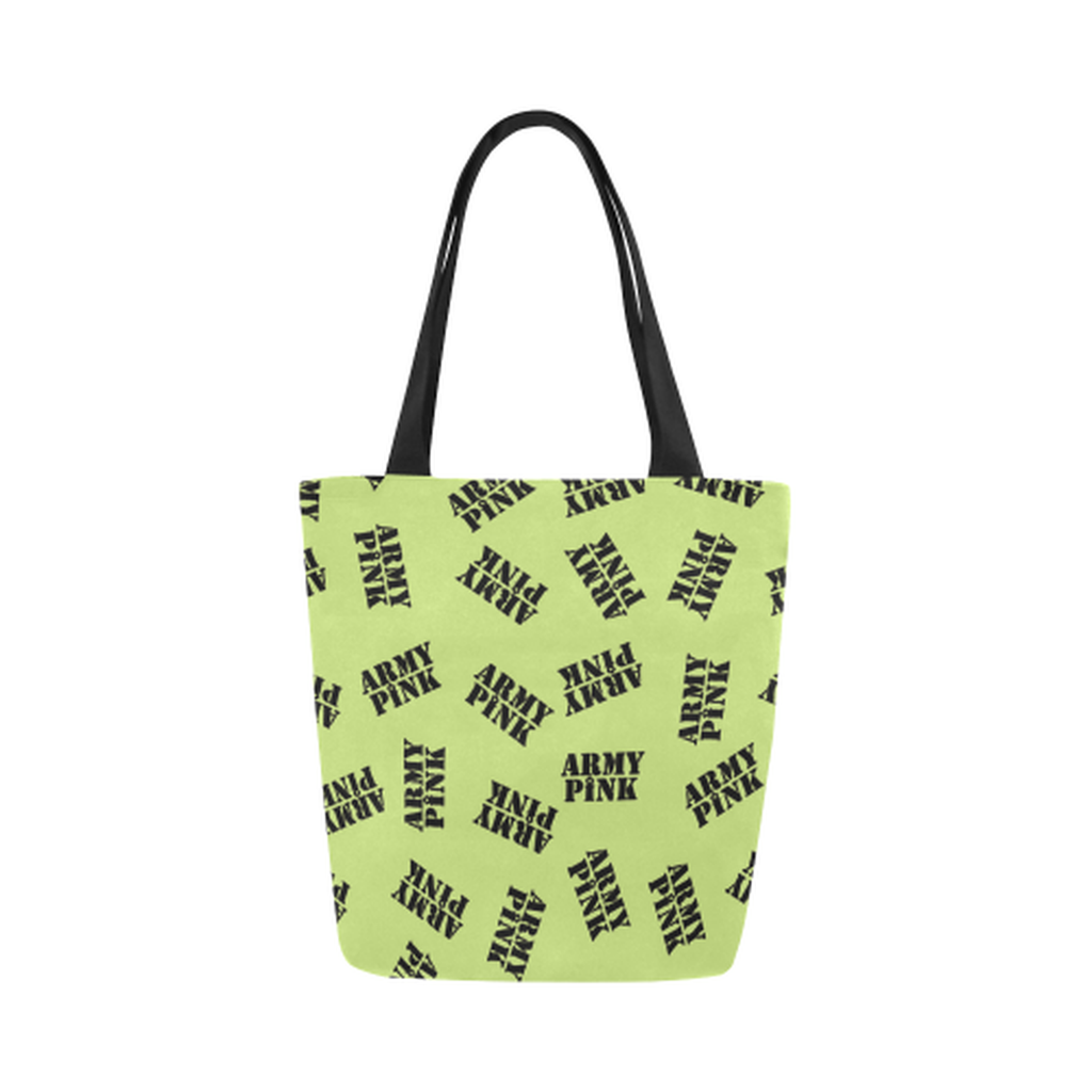 Green black stamp Canvas Tote Bag for  at ARMY PINK