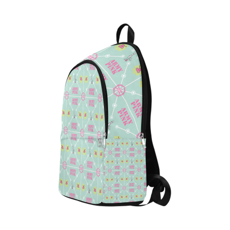 Logo diamond pattern on mint Fabric Backpack for Adult (Model 1659) for  at ARMY PINK