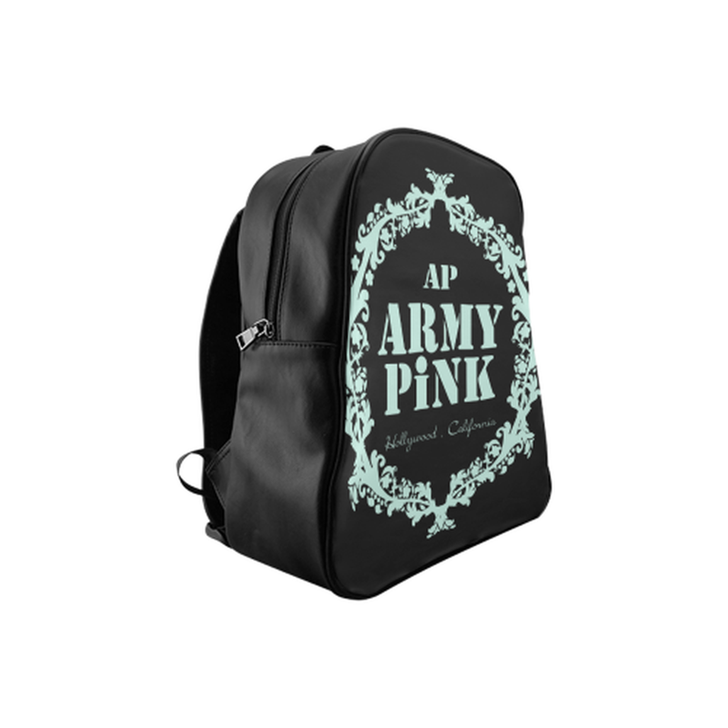 Mint wreath on black School Backpack (Model 1601)(Medium) ${product-type) ${shop-name)