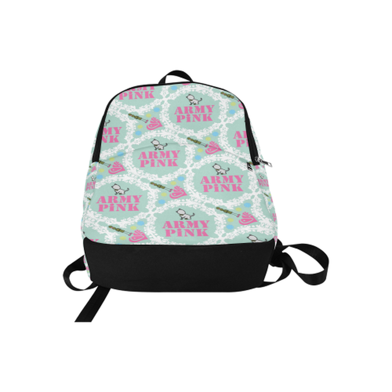 backpack white wreath on mint Fabric Backpack for Adult (Model 1659) for  at ARMY PINK