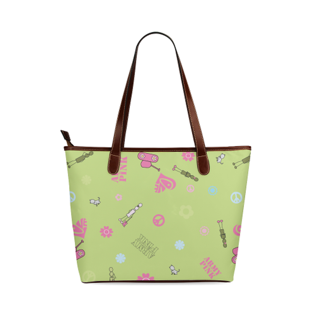 Green logo Tote Bag for  at ARMY PINK
