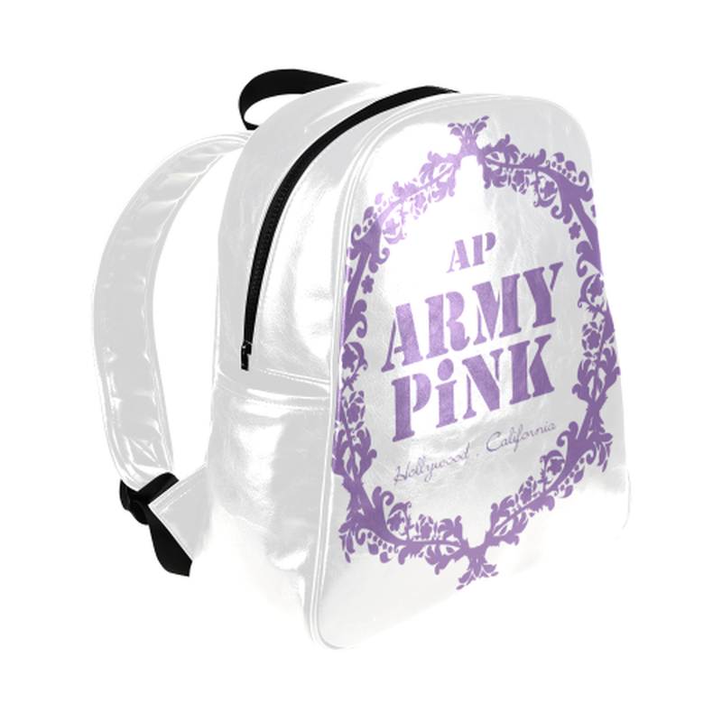 Purple wreath on white Multi-Pockets Backpack (Model 1636) for  at ARMY PINK
