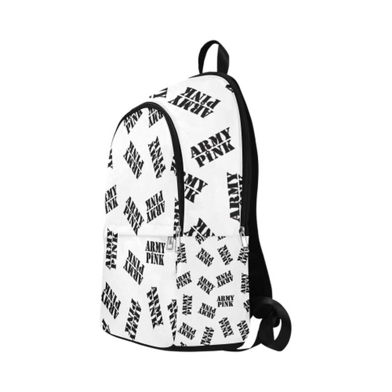 Black stamps on white Fabric Backpack for Adult (Model 1659) for  at ARMY PINK