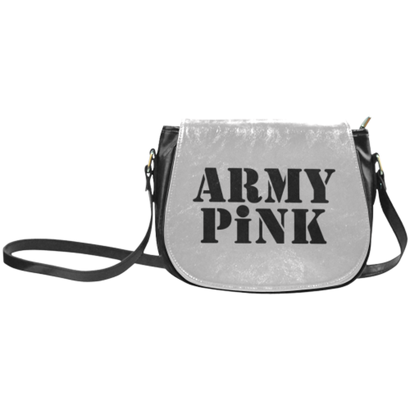 Army Pink on Gray Saddle Bag for  at ARMY PINK