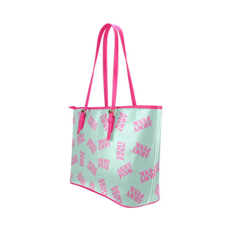 Mint stamp leather Tote Bag for  at ARMY PINK