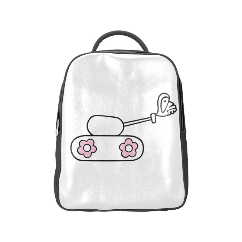 White love tank Backpack ${product-type) ${shop-name)