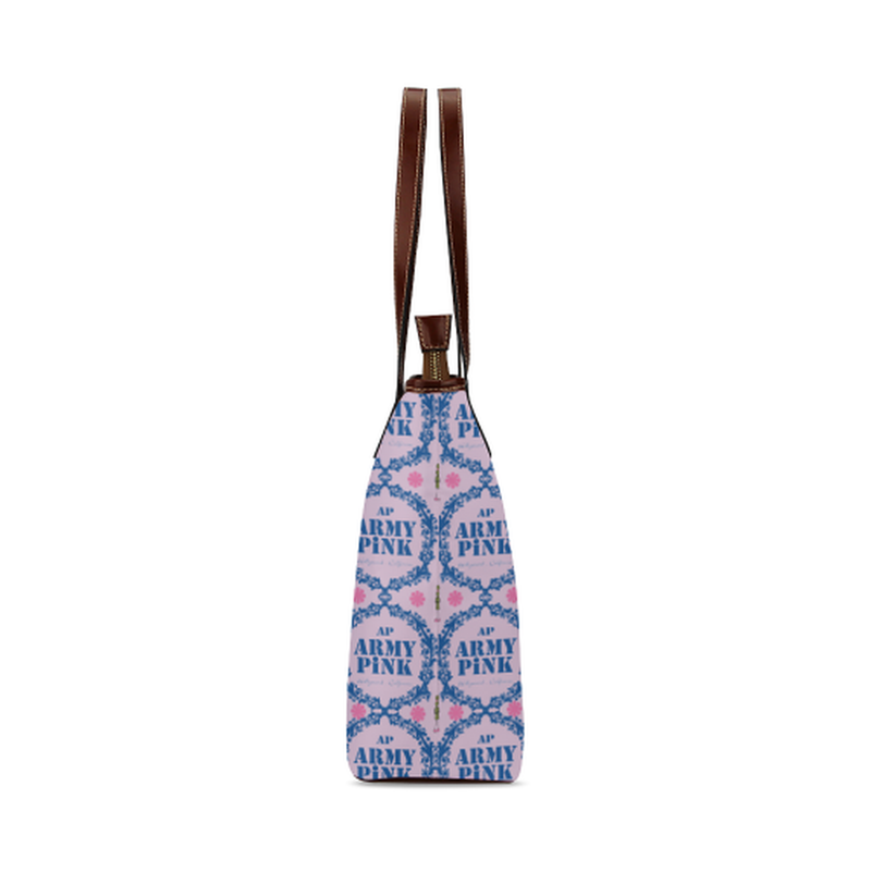 Royal wreaths on violet Shoulder Tote Bag (Model 1646) ${product-type) ${shop-name)