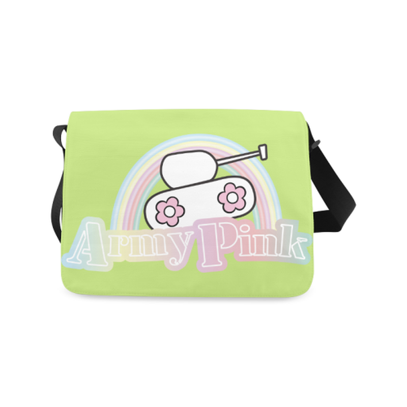 Rainbow on green Messenger Bag ${product-type) ${shop-name)