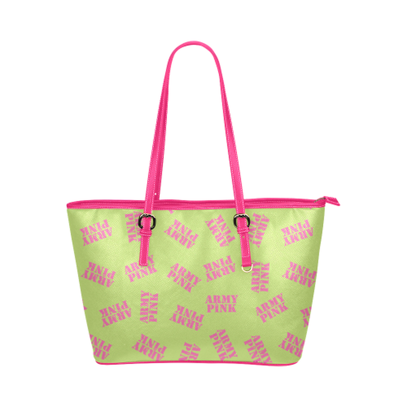 Green stamp leather Tote Bag ${product-type) ${shop-name)