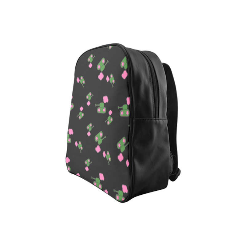 Tanks and clouds on black School Backpack (Model 1601)(Medium) for  at ARMY PINK