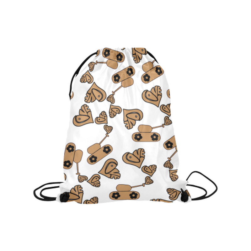 "Tan love tanks Medium Drawstring Bag Model 1604 (Twin Sides) 13.8""(W) * 18.1""(H) for  at ARMY PINK"