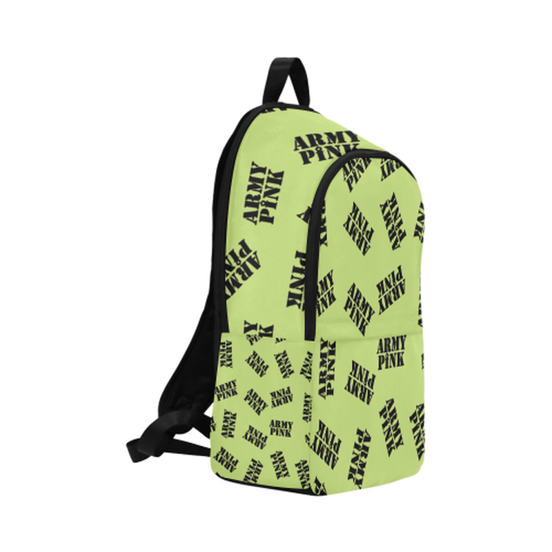 Black stamps on green Fabric Backpack for Adult (Model 1659) for  at ARMY PINK