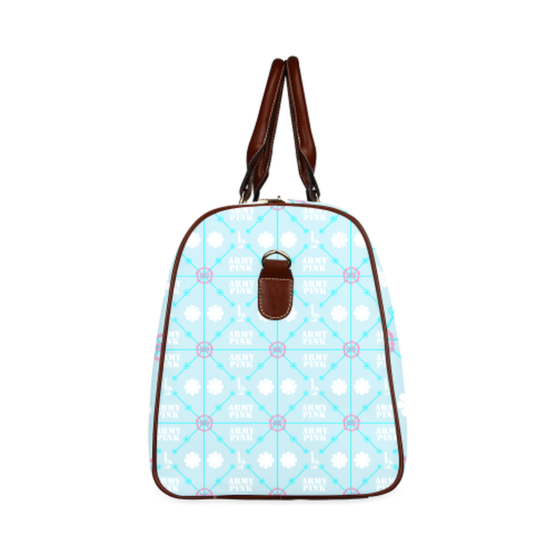 small travel diamond marchers on blue Waterproof Travel Bag/Small (Model 1639) for  at ARMY PINK