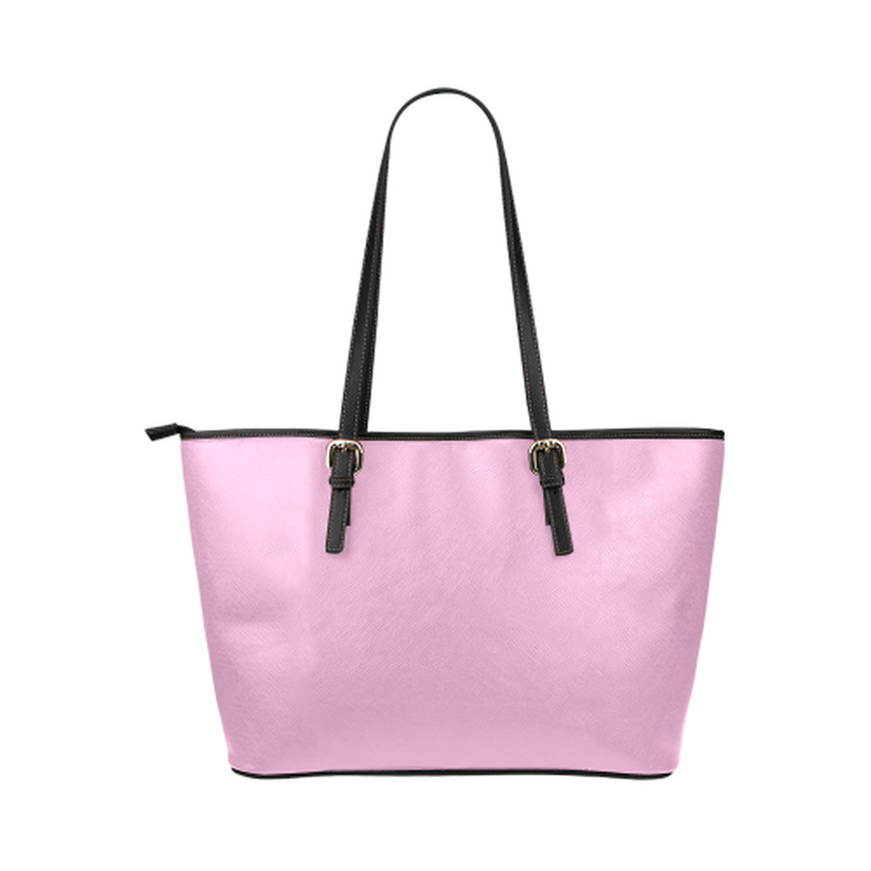 Pink logo leather Tote Bag ${product-type) ${shop-name)