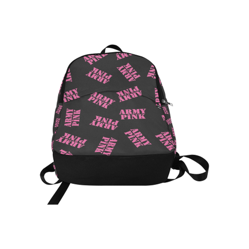 Pink stamps on black Fabric Backpack for Adult (Model 1659) for  at ARMY PINK