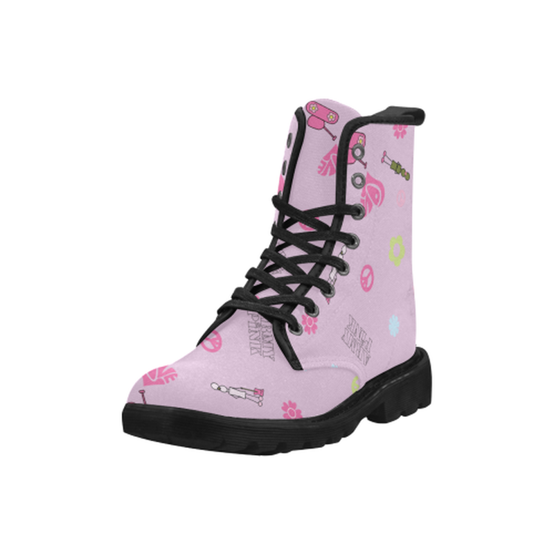 Logo print pink Martin Boots for 60.00 at ARMY PINK